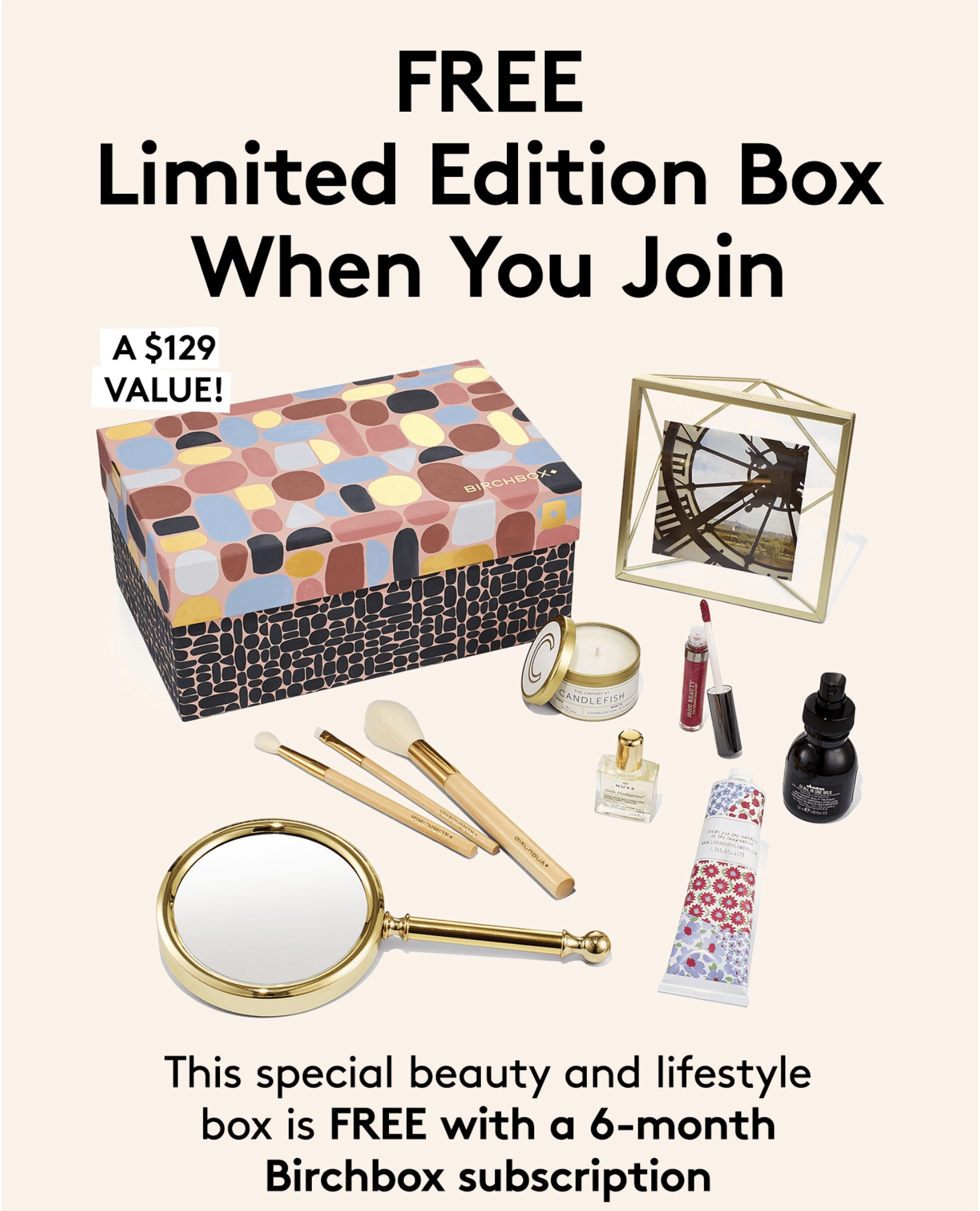 FREE Birchbox Limited Edition Box With 6 Month Subscription!