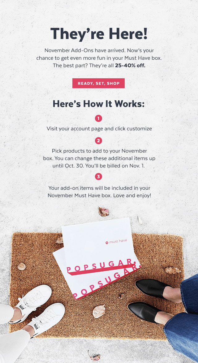 POPSUGAR Must Have Box November Add-Ons Available Now!