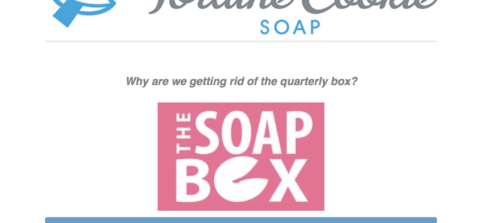 Fortune Cookie Soap Quarterly Box Ending – Details!