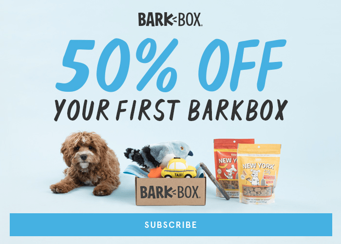 BarkBox Coupon: First Box 50% Off with 6+ Month Subscription!