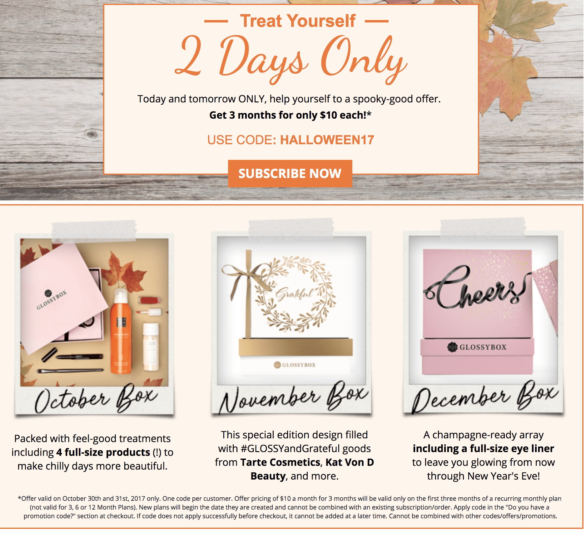 Glossybox Coupon Code: First Three Boxes $10 Each!