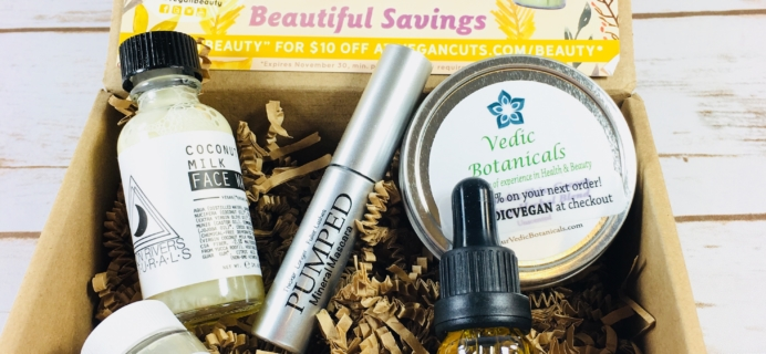 Vegan Cuts Beauty Box October 2017 Subscription Box Review