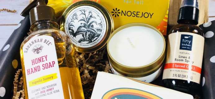 NOSEJOY October 2017 Subscription Box Review + Coupon!