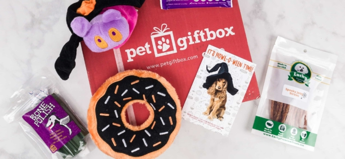 PetGiftBox October 2017 Subscription Box Review + 50% Off Coupon