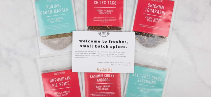 RawSpiceBar Quarterly Spice Subscription Review & Coupon – Fall 2017