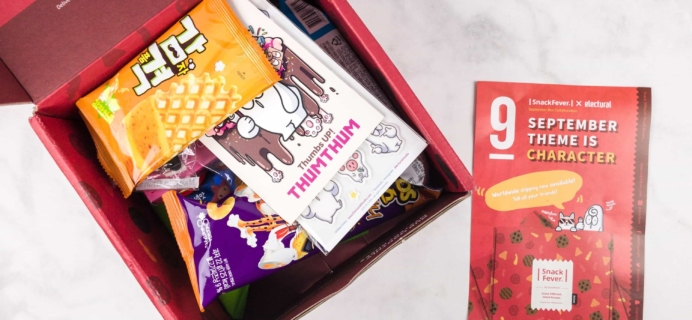 September 2017 Snack Fever Subscription Box Review + Coupon