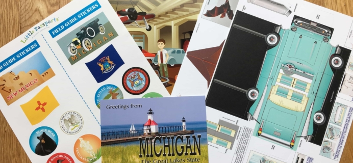 October 2017 Little Passports USA Subscription Box Review + Coupon – Michigan and New Mexico