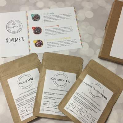MyTeaBox November 2017 Subscription Box Review