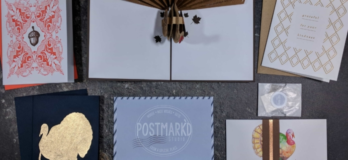 Postmark'd Studio PostBox 2017 Cyber Monday Coupon: FREE Gift or FREE Month With Longer Subscription!