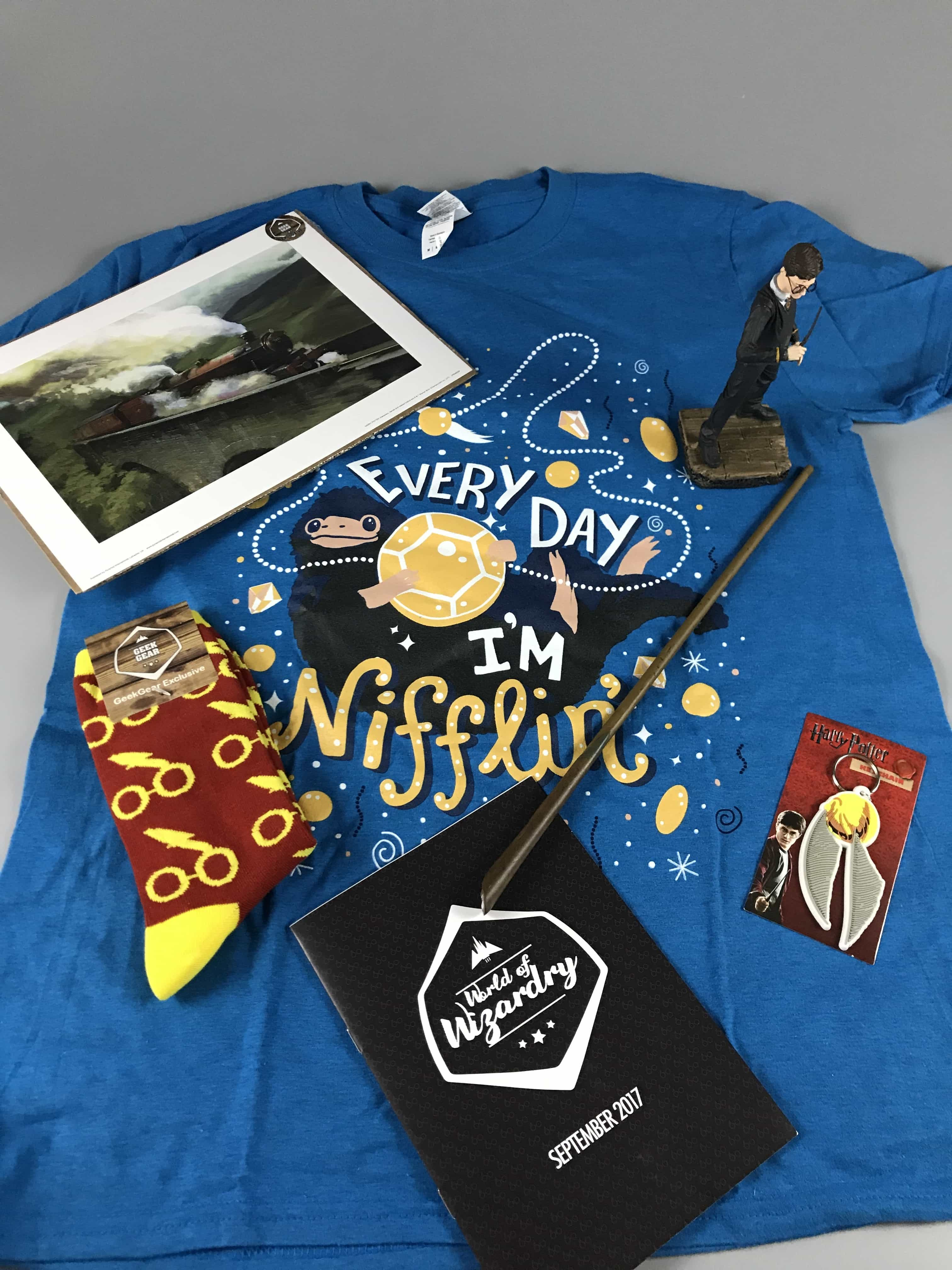 Geek Gear World of Wizardry September 2017 Subscription Box Review