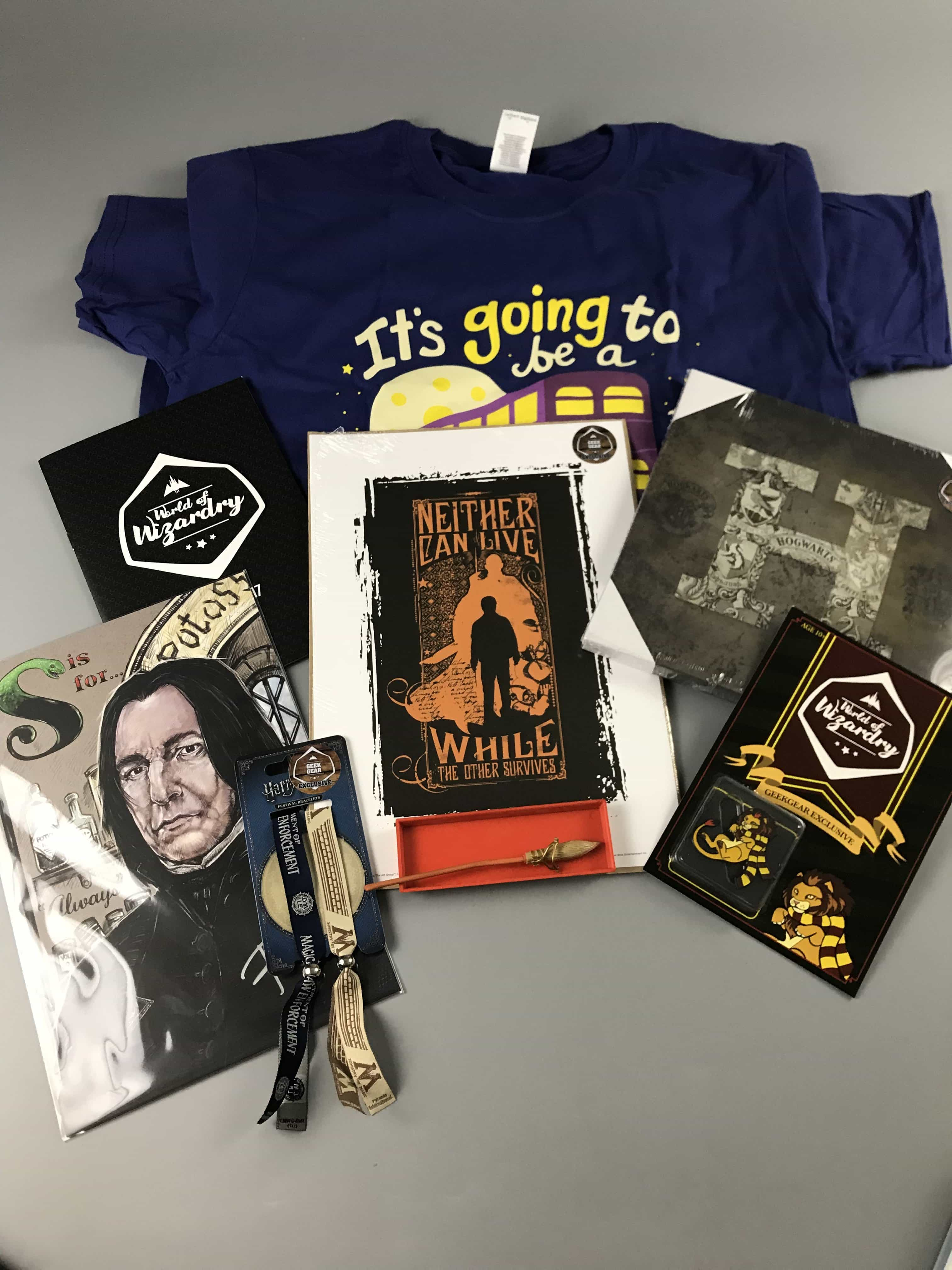 Geek Gear World of Wizardry  October 2017 Subscription Box Review