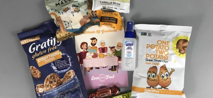 Love With Food November 2017 Tasting Box Review + Coupon!