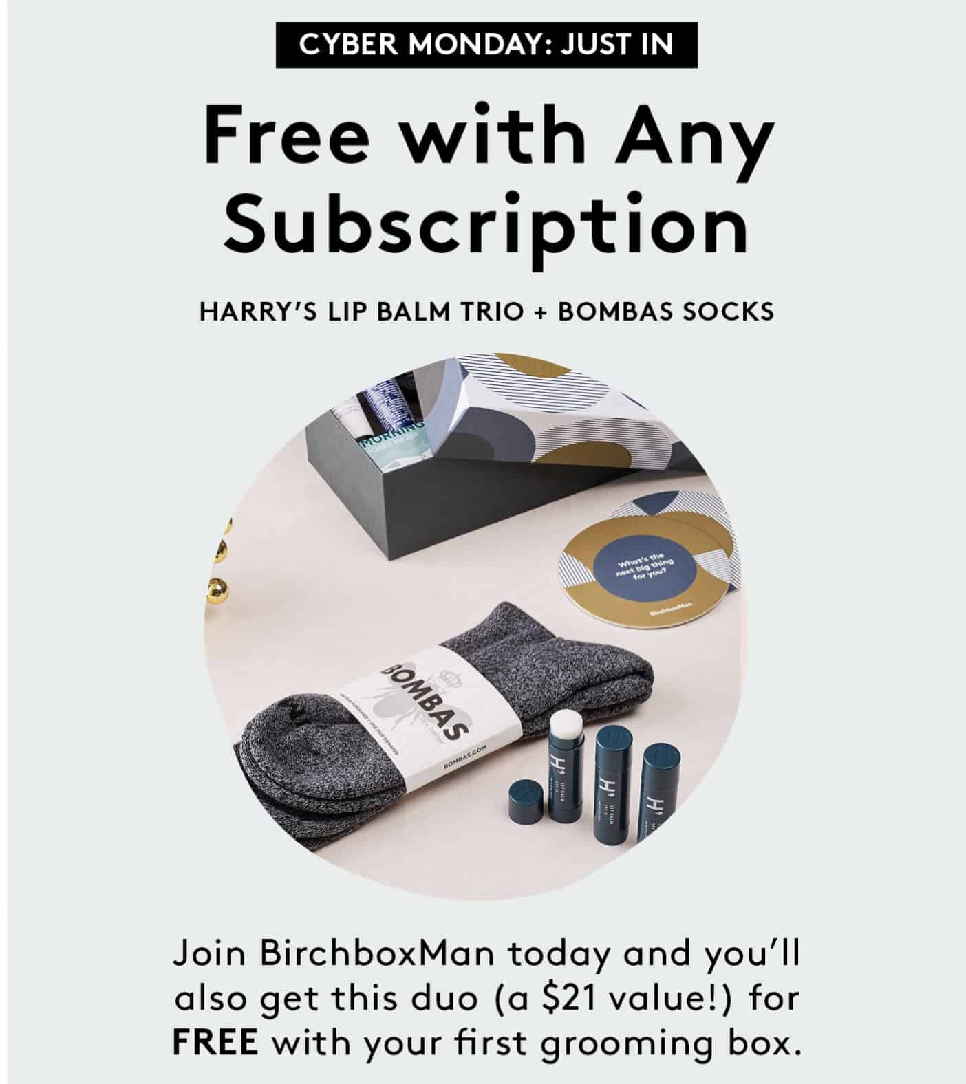 Birchbox Man Coupon: Free Bombas Socks & Lip Balm Trio With Subscription!