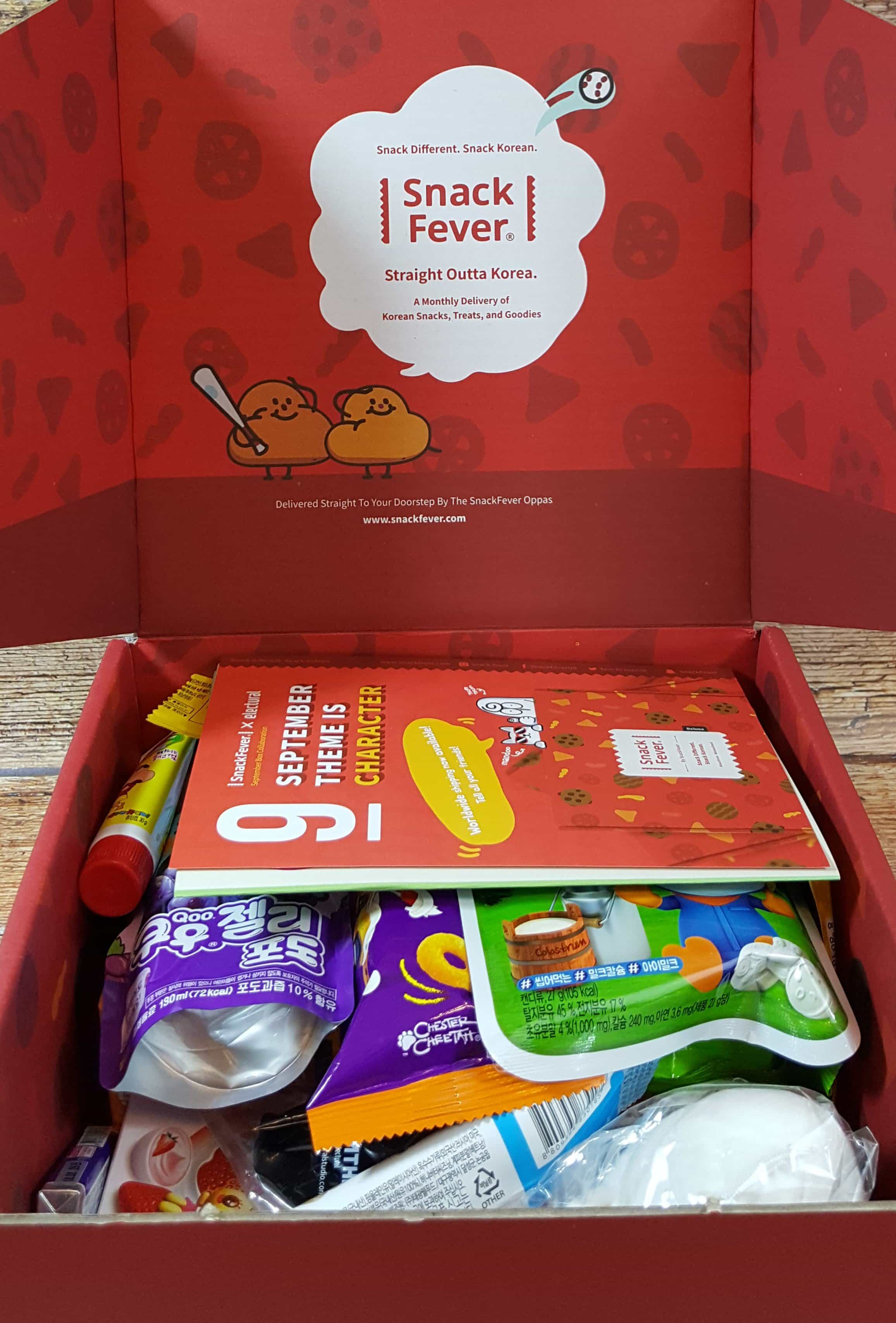 September 2017 Snack Fever Subscription Box Review + Coupon – Deluxe Box!