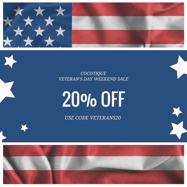 Cocotique Veterans Day Sale: 20% off all Subscriptions & Past Boxes!