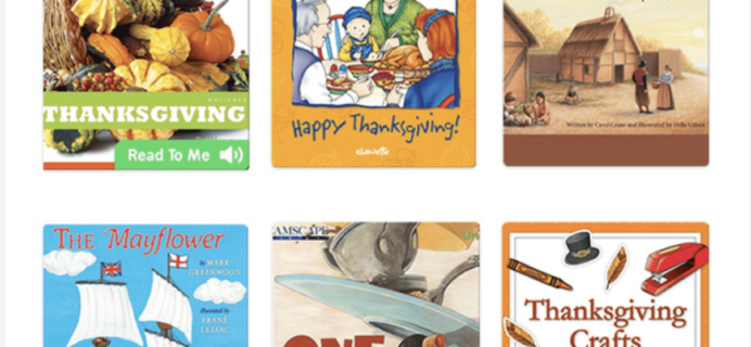 Epic! Kids Books – Thanksgiving Books Added + Get First Month FREE! Last Call!