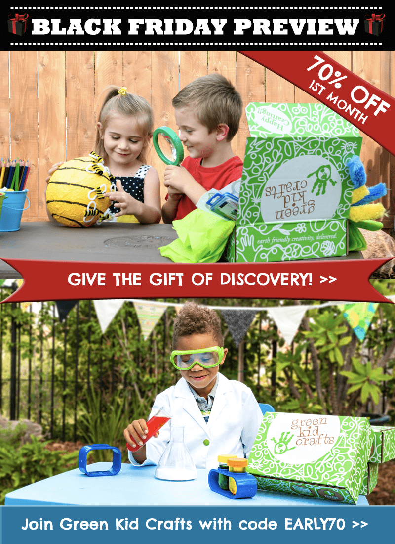 Green Kid Crafts Black Friday Deal: 70% Off First Box + 50% Off Shop!