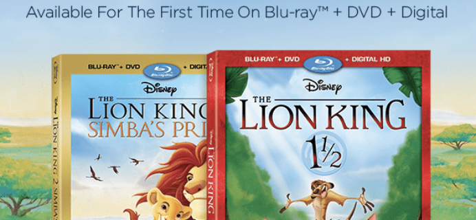 Disney Movie Club November 2017 Selection Time #2 + 4 Movies for $1 Deal!