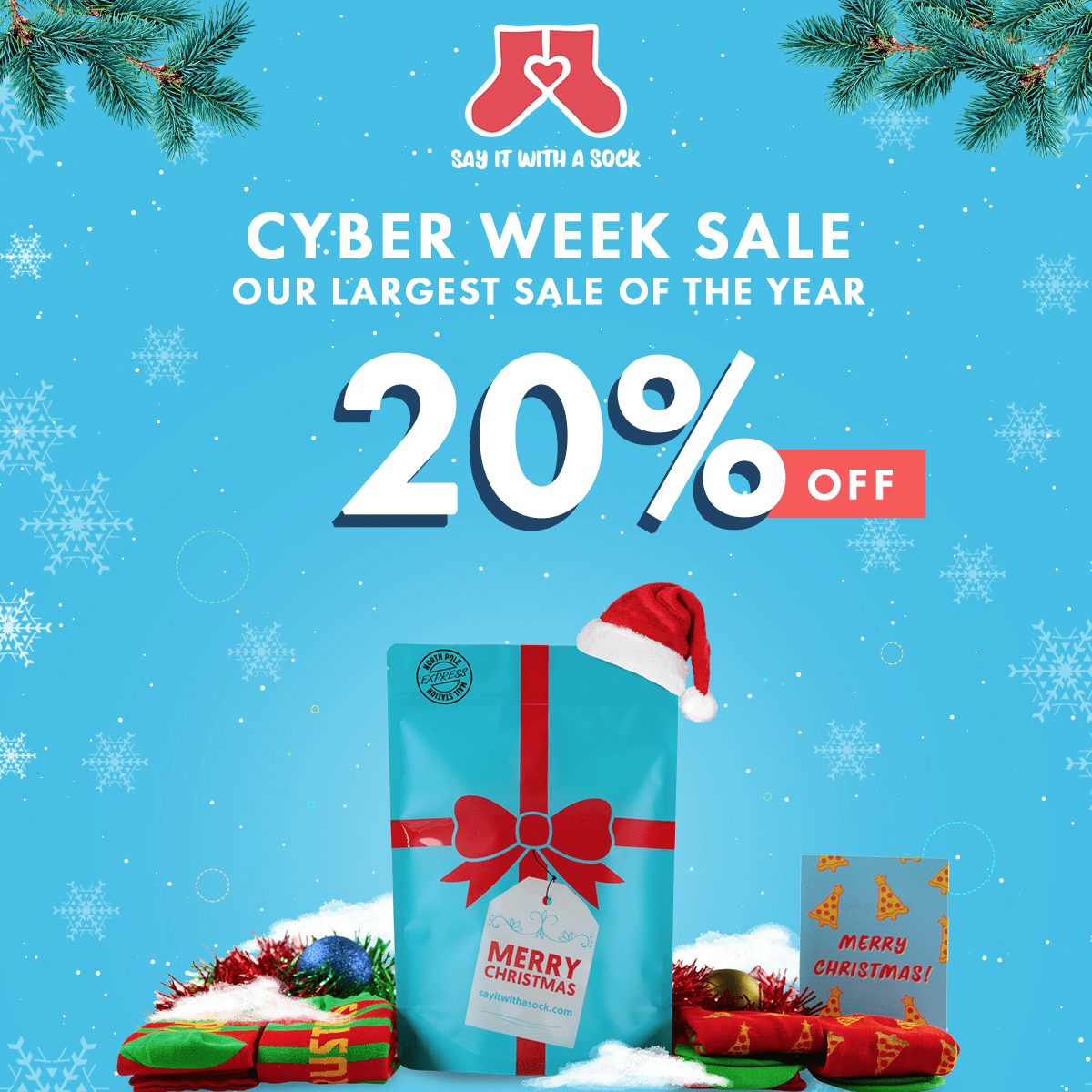 Say It With A Sock Black Friday Deal: 20% Off All Subscriptions!