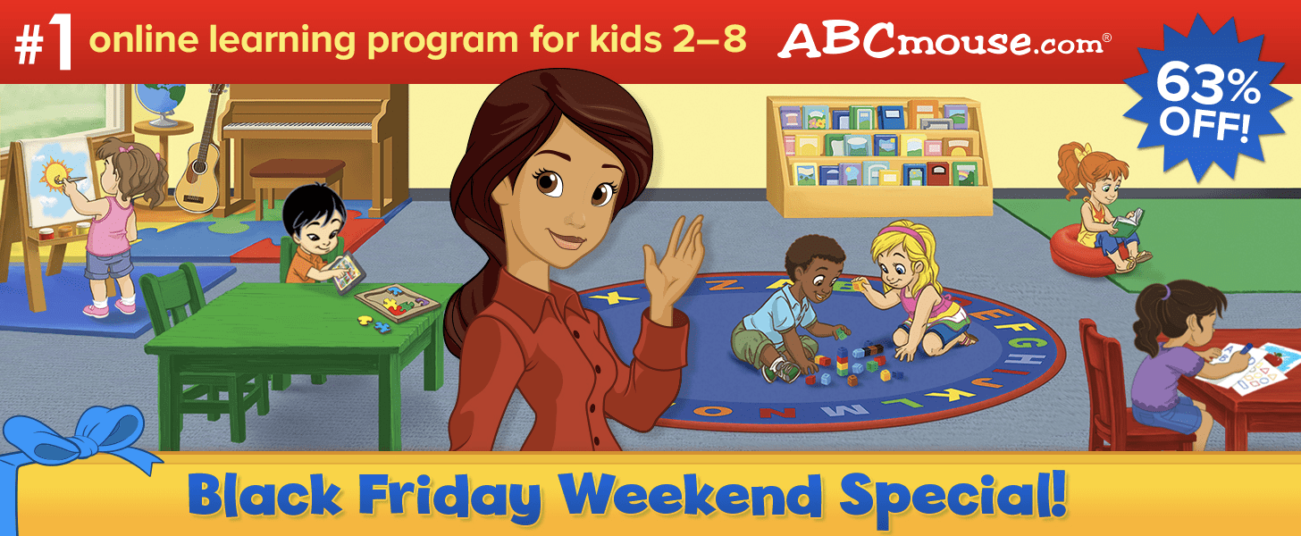 ABCmouse Black Friday Deal: Get 1 Year of ABCmouse for $45 – 63% Off!