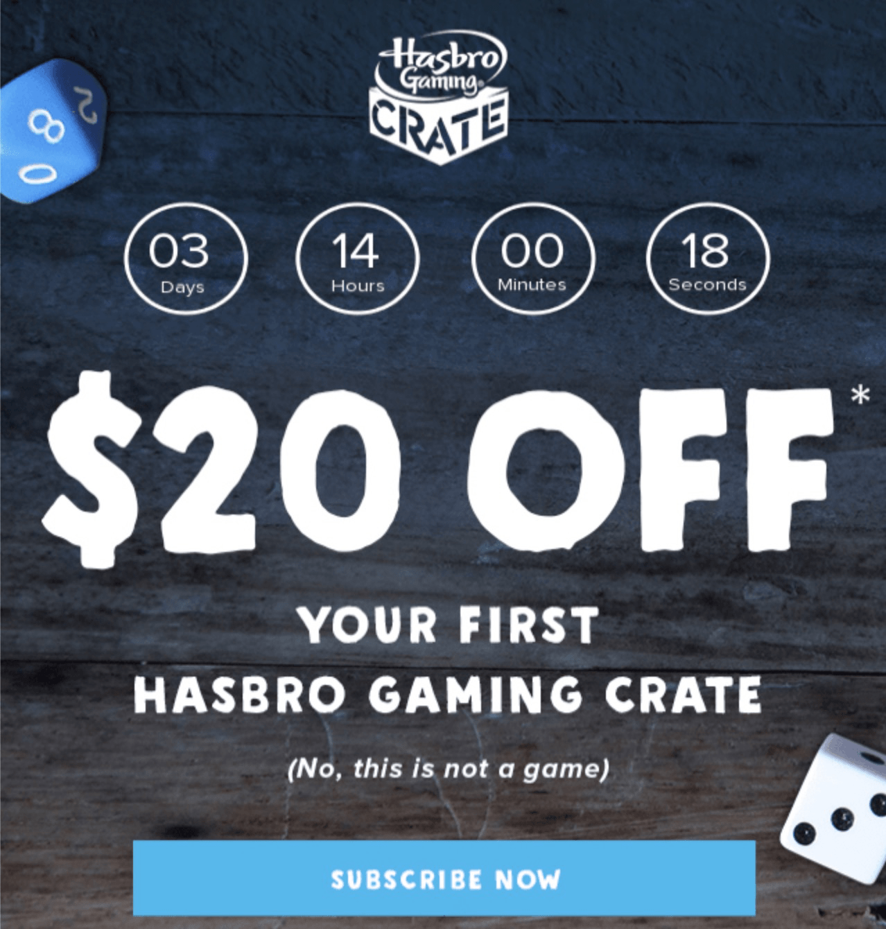 Hasbro Gaming Crate Coupon: Save $20 On First Box!