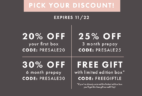 Bombay & Cedar Pre-Black Friday Sale!