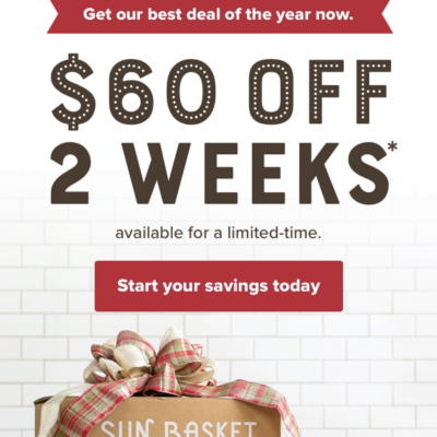 Sun Basket Cyber Monday Sale – Save $40 On Your First Weeks + $20 On Second!