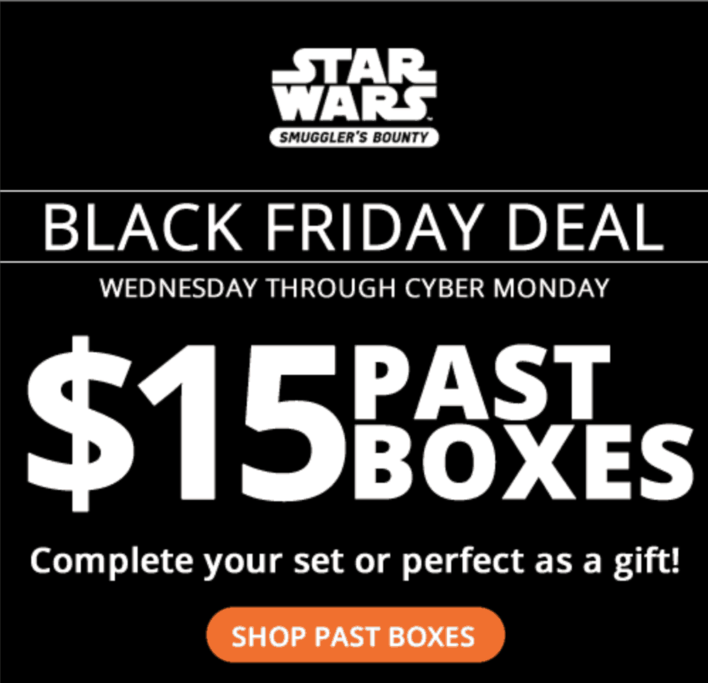 Smugglers Bounty Cyber Monday Sale! $15 Past Boxes for Subscribers!