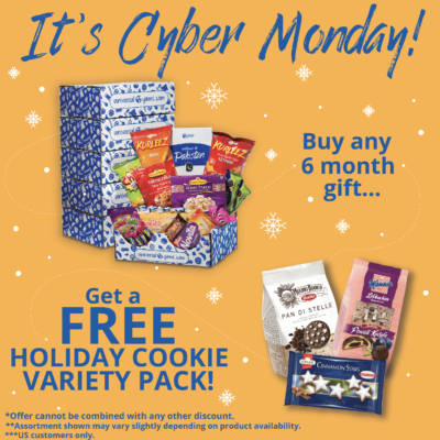 Universal Yums 2017 Cyber Monday Deal: Get a FREE Holiday Cookie Variety Pack with 6 month subscription!