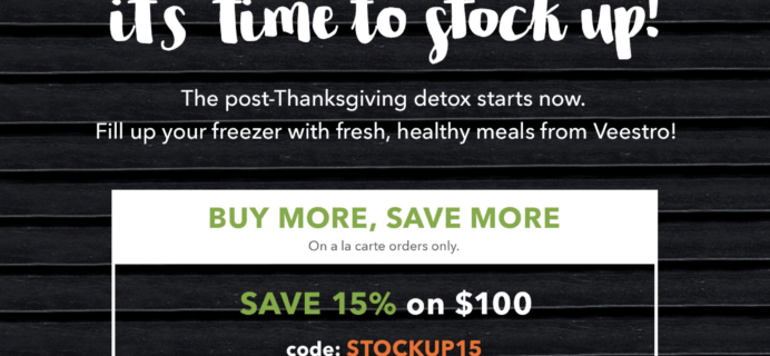 Veestro Plant Based Pre-Prepared Meal Delivery Black Friday Coupons: Save Up To 30%!