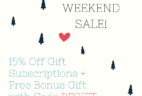 Ecocentric Mom Cyber Monday Sale:Free Bonus Gift + 15% Off Gift Subscriptions!