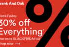 Frank And Oak Black Friday Sale 30% Off Sitewide!