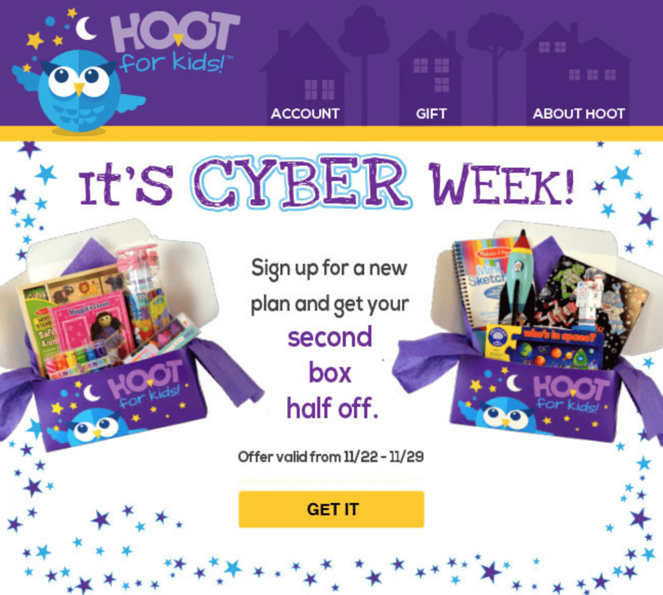 Hoot For Kids Black Friday Kids Subscription Deal: 50% Off Your Second Box!
