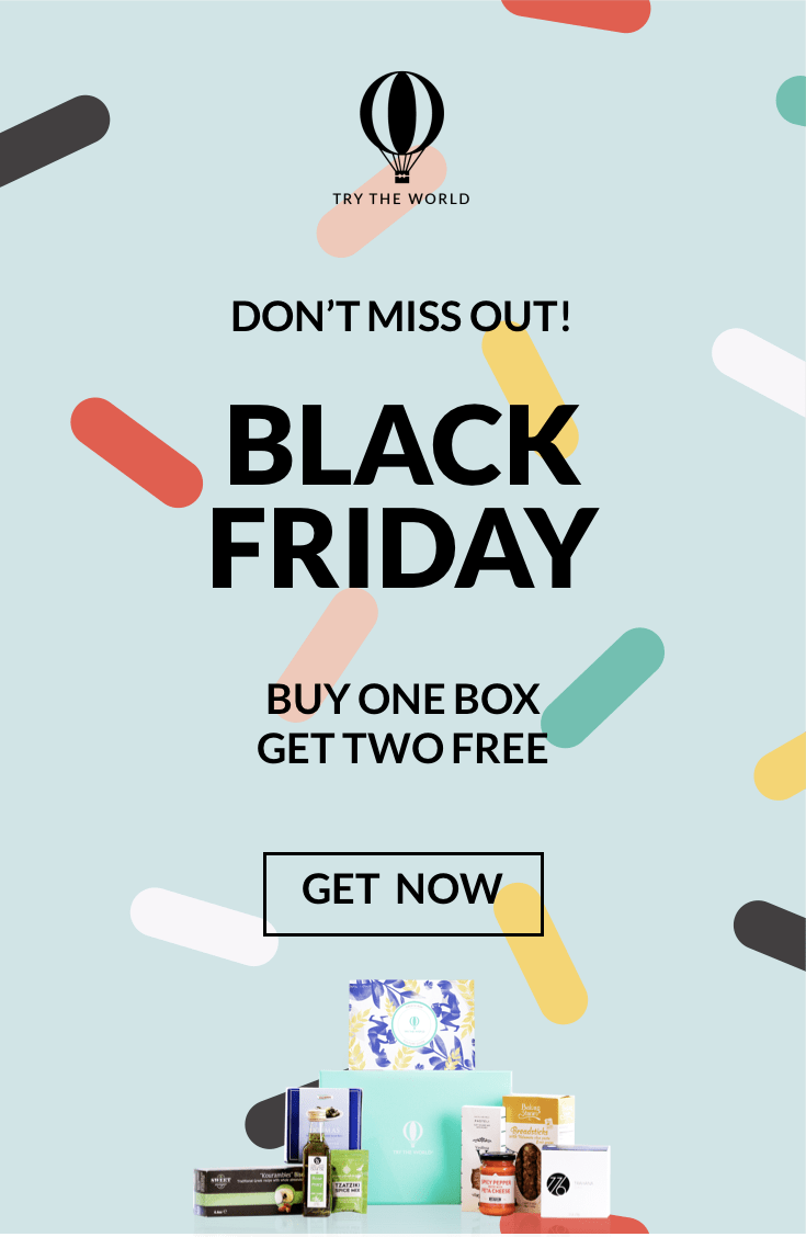 Try the World Black Friday Sale: Two FREE Boxes!