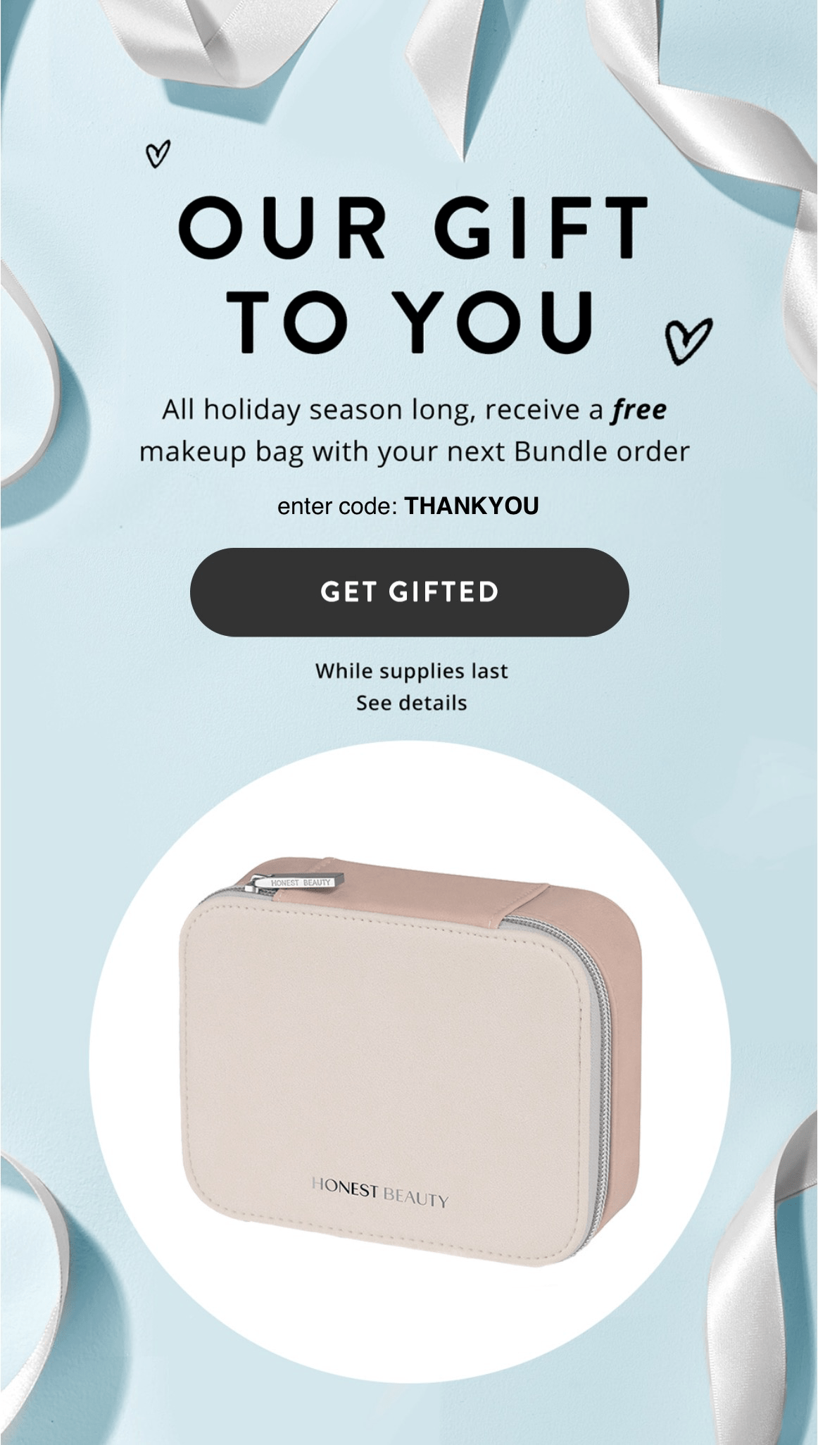 Honest Company Black Friday EXISTING BUNDLE Deal – Free Makeup Bag!
