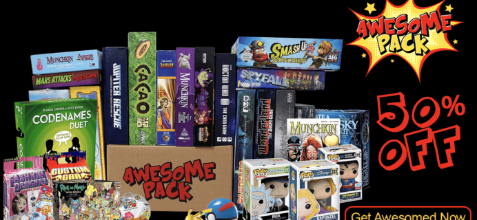 Awesome Pack Black Friday Deal: 50% Off First Box