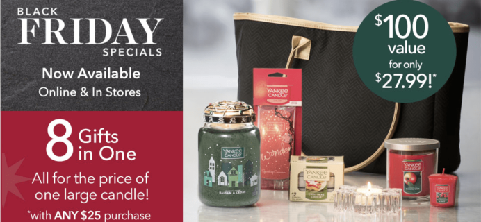 Yankee Candle Black Friday Tote Available Now! $27.99 With $50 Purchase!