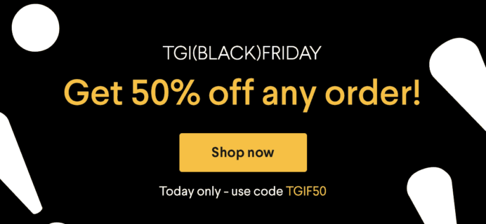 Naturebox Black Friday Coupon: Save 50% on First Order TODAY ONLY