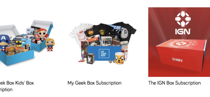 My Geek Box Black Friday Subscription Sale: First Box $10 or 15% Off!