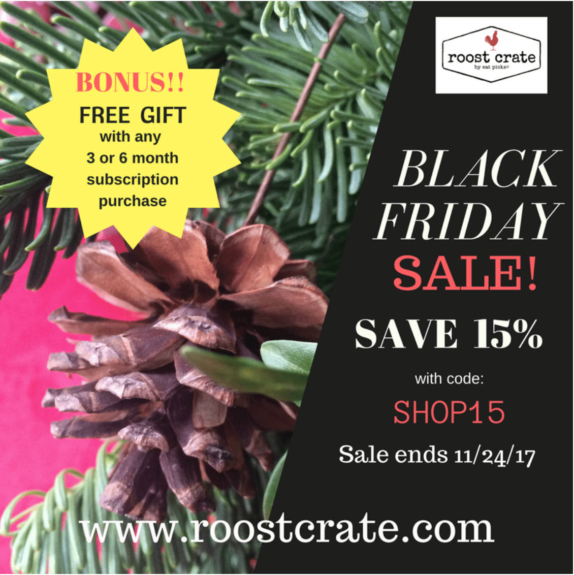 Roost Crate Black Friday 15% Off Subscriptions