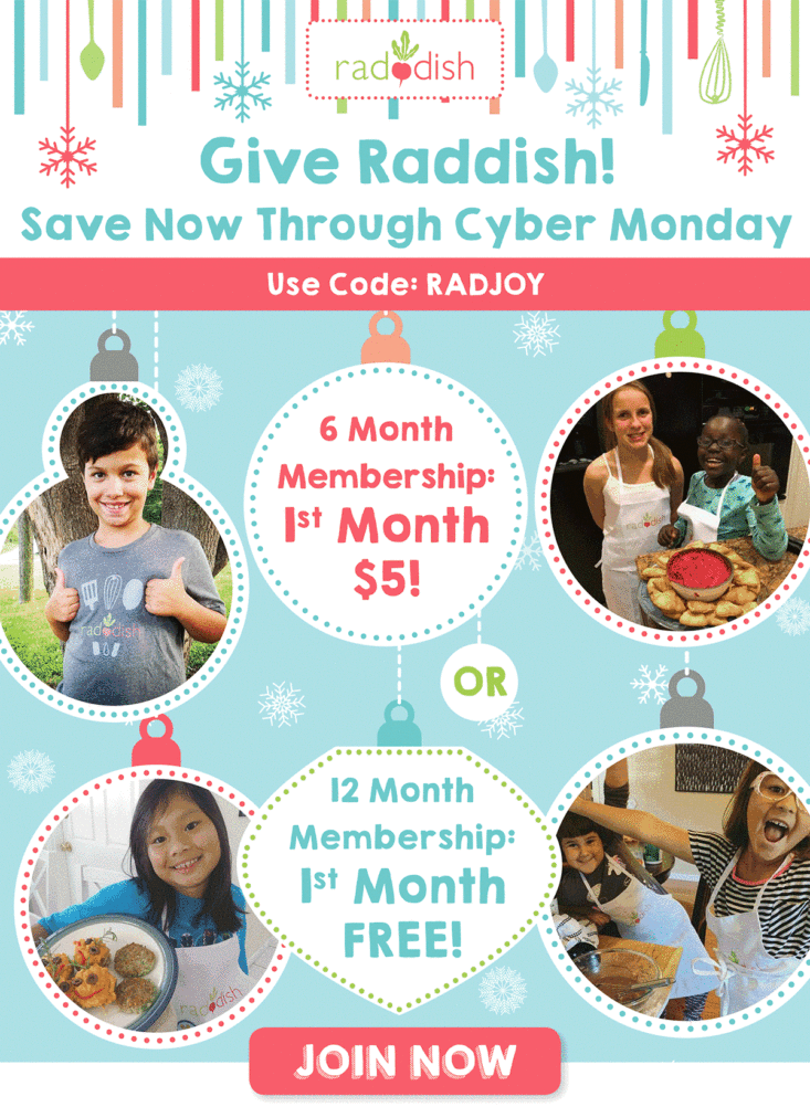 Raddish Kids Black Friday Coupon – First Month Free With Subscription!