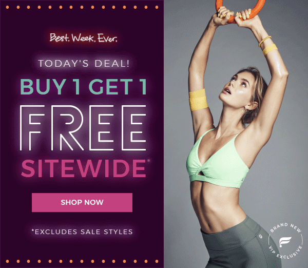 Fabletics Black Friday Weekend Deal: Everything BOGO! + First Outfit Coupon! EXTENDED!
