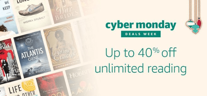 LAST CALL: Amazon Kindle Unlimited Cyber Monday Deal: Get 40% Off!
