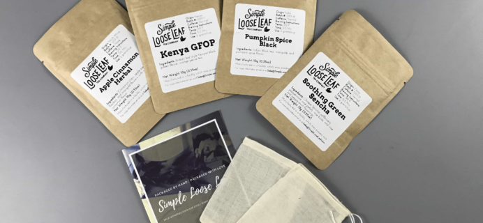 Simple Loose Leaf Tea Subscription Box Sunday Coupon: Save 15% on any subscription!