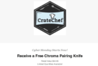 CrateChef 2017 Cyber Monday Deal: Free Chroma Pairing Knife!