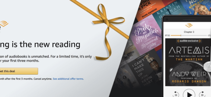 Amazon Audible Year End Deal: $4.95/Month for 3 Months!