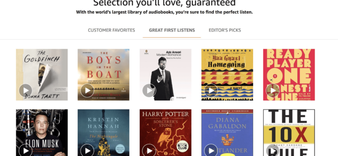 Audible Amazon Prime Day Deal: $4.95 a Month for 3 Months! LAST DAY!