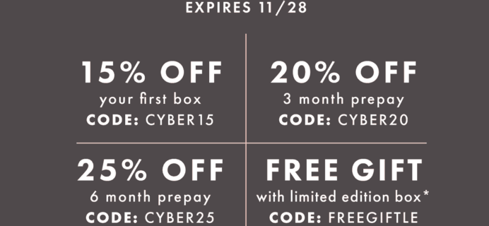 Bombay & Cedar Cyber Monday Deals! Up to 25% Off Subscriptions!