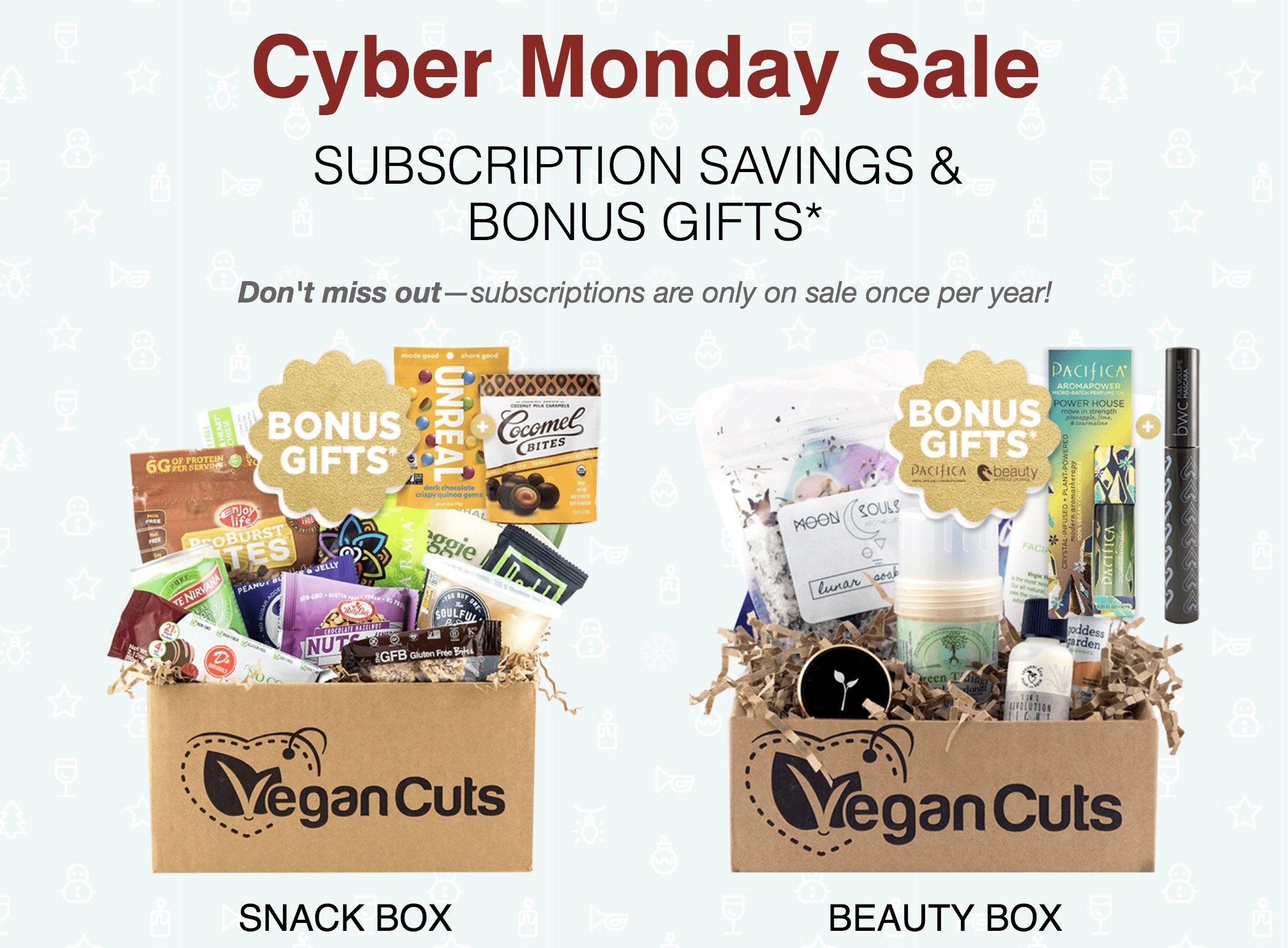 Vegan Cuts Cyber Monday Deal:  Save up to 15% On Subscriptions!