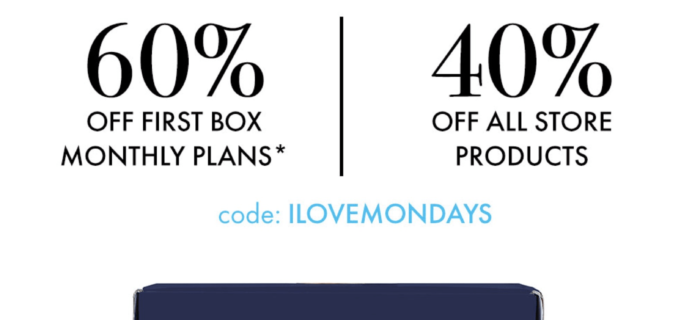 SprezzaBox Cyber Monday Deal: 60% Off First Month + 40% Off Sale!
